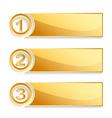 modern golden position banner set vector image