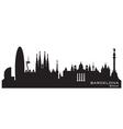 Barcelona Spain skyline Detailed silhouette vector image