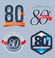 80 Years Anniversary Logo vector image