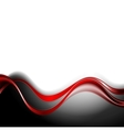 Abstract background with red waves vector image vector image