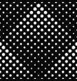 abstract black and white seamless dot pattern vector image vector image