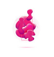 abstract pink badge geometric smooth liquid vector image vector image