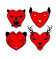 animalheart vector image