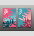 annual report 2020 future business template vector image