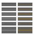 asphalt roads with yellow and white lines vector image vector image