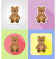 baby flat icons 11 vector image