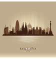 Barcelona Spain city skyline silhouette vector image vector image