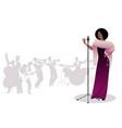 beautiful and elegant jazz singer singing solo vector image vector image