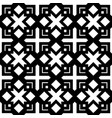 black and white geometric seamless pattern in vector image vector image