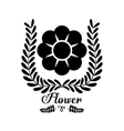 Black flower silhouette icon vector image