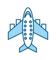 blue airplane cartoon vector image vector image