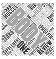 Body Building Supplement Review Word Cloud Concept vector image vector image