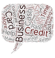 Business Credit Cards Are On The Rise text vector image vector image