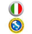 button as a symbol of Italy vector image vector image