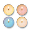 candle top view vector image