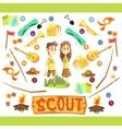 Children Scouts vector image vector image