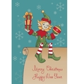 Christmas Santa Elf design vector image