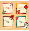 christmas template frame vector image vector image