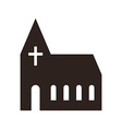 Church icon vector image vector image