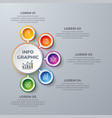 Circle infographic design with 5 process choices