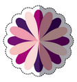 color flower with petals icon vector image vector image