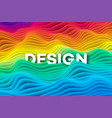 colourful rainbow curve background vector image vector image