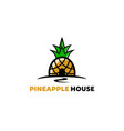 creative artistic pineapple house fruit logo vector image