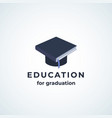 education for graduation absrtract sign vector image vector image