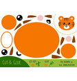 education paper game for children tiger vector image vector image