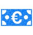 euro banknote grunge icon vector image vector image