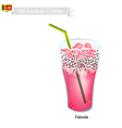Falooda One of Famous Beverage in Sri Lanka vector image vector image