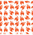fire symbols seamless pattern spurts flame vector image