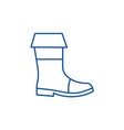 fishing boots line icon concept fishing boots vector image vector image