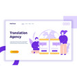 flat line translation design concept vector image