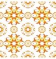 Floral mandala seamless pattern vector image vector image