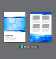 Flyer Brochure background template 0006 Gear vector image