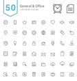 General and Office Line Icon Set vector image vector image
