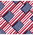 grunge united states flag or banner vector image vector image