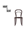 Have a seat Chair isolated on white vector image vector image