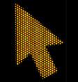 hexagon halftone mouse cursor icon vector image vector image