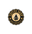 hot coffee vintage badges logo designs vector image vector image