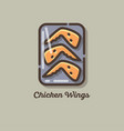 icon wings chicken vector image