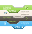 Infographics option design template vector image vector image