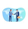 international agreement concept vector image