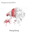 isolated icon hong kong map polygonal vector image vector image