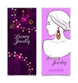 Jewelry Banner Set vector image vector image