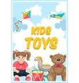 Kids Toys Shop Poster vector image