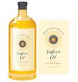 label for sunflower oil on glass bottle vector image vector image