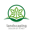 leaves landscaping ecology design vector image vector image