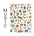 music instrument set sketch for your design vector image vector image